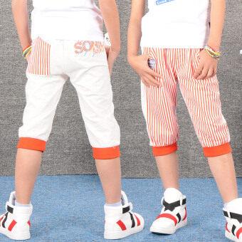 กางเกงเด็กชายฤดูร้อนส่วนบาง (2831 สีแดง)