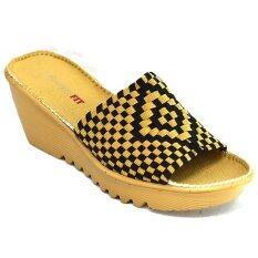 29November รองเท้าเพื่อสุขภาพ น้ำหนักเบา ส้นตึก รุ่น ผ้ายืดถักกระชับเท้า Elastic Woven Sandals Code Rjt628 สีแทน ดำ ถูก