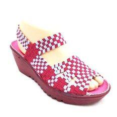 ขาย 29November รองเท้าแฟชั่น ส้นตึก รุ่น ผ้ายืดถักกระชับเท้า Elastic Woven Sandals Code T303 สีชมพู เป็นต้นฉบับ