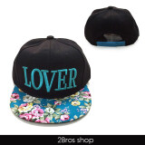 ซื้อ 2Bros หมวกสไตล์เกาหลี ลาย Lover สีฟ้า Unbranded Generic ถูก