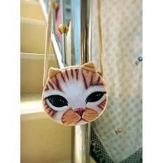 กระเป๋าสตางค์ลายหน้าแมว 3 มิติ 3D Cat มีสายสะพาย ถูก