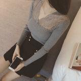 ซื้อ Xian Wan Shi เสื้อผ้าลูกไม้หญิง แขนยาว เข้ารูป สีพื้น สีเทา 301 รุ่น สีเทา 301 รุ่น Unbranded Generic เป็นต้นฉบับ