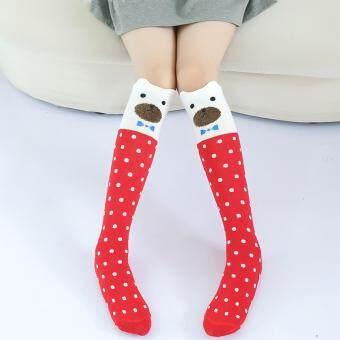 ถุงเท้ายาวถึงเท่าเด็กหญิง ขนาด 34 ซม.