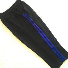 กางเกงวอร์ม ออกกำลังกายผู้หญิง 3 4 ส่วน สีดำ น้ำเงิน ใน กรุงเทพมหานคร