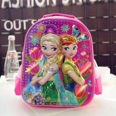 ราคา 3D ขนาดเล็กกระเป๋านักเรียนโรงเรียนอนุบาลถุงทารก ขเจ้าหญิงสีชมพู ใหม่ ถูก