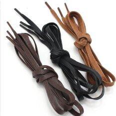 ขาย 3Pcs 140Cm Unisex Shoelaces Flat Men S Women S Shoe Strings Canvas Sneaker Boots Shoe Laces Waxed Korean Fashion Cotton 6 Cm Wide Color Black Coffee Red Brown Intl ถูก ใน จีน