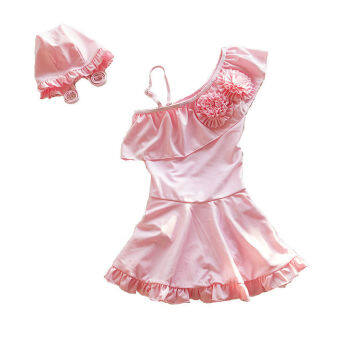 4-15YChildren Kids Girl Swimwear Little Girls Bathing Suit Swimsuit - Pink