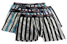 ขาย กางเกงในขาสั้นเข้ารูปลายตั้งขอบดำ บรรจุ 4 ตัว Unbranded Generic ถูก
