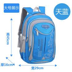 ส่วนลด นักเรียนนักเรียนสาวที่มีน้ำหนักเบาสวมใส่กระเป๋าเป้สะพายหลังกระเป๋านักเรียน ขนาดใหญ่สีฟ้า 4 6 9 ชั้นประถมศึกษาปี