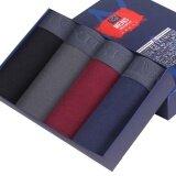 ขาย 4 Pieces Male Pants Men S Underwear Cotton Underwear Black Grey Red Purplishblue Intl จีน ถูก
