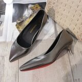 ราคา บางรองเท้าส้นเดียวในกับรองเท้าดีกับส้นสูงรองเท้า ปืนสี 4 5 Cm ใน ฮ่องกง