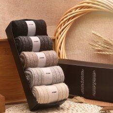 ทบทวน 5 Pairs Lot Men Warm Thick Wool Socks Intl Unbranded Generic
