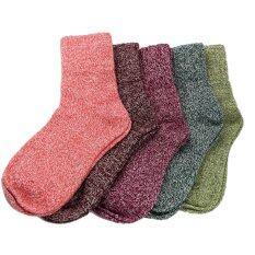 ความคิดเห็น 5 Pairs Women Wool Cashmere Thick Warm Soft Solid Casual Sports Socks Winter Intl