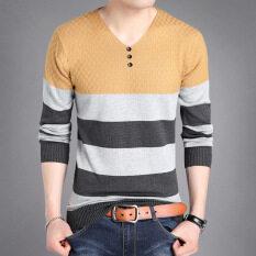 ราคา เสื้อยืดฤดูใบไม้ร่วงใหม่เสื้อเล็กๆเกาหลีถัก 5928 สีเหลือง ใหม่