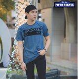 ราคา 5Th Avenue Graphic T Shirt เสื้อยืดผ้าฟอกนุ่ม รุ่น Brooklyn Blue เป็นต้นฉบับ