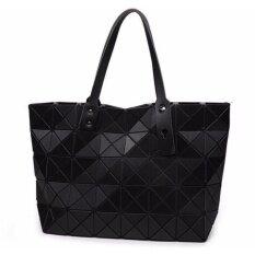 โปรโมชั่น กระเป๋าแฟชั่นผู้หญิง สไตล์บล็อก 5X8 สีดำด้าน ใบใหญ่ ขนาดกระเป๋า 44 X 28 X 12 เซน เป็นแฟชั่นที่นิยมมากในญี่ปุ่น มีรูปรีวิวสินค้าจริงในรายละเอียดสินค้า