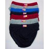 ขาย กางเกงใน ผู้ชาย หุ้มขอบยาง แบบคละสี จำนวน 6 ตัว สินค้าคุณภาพ ราคาถูก ไซด์ Xl เอว 25 36 นิ้ว ออนไลน์