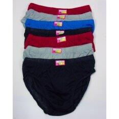 ขาย กางเกงใน ผู้ชาย หุ้มขอบยาง แบบคละสี จำนวน 6 ตัว สินค้าคุณภาพ ราคาถูก ไซด์ Xl เอว 25 36 นิ้ว ถูก ใน กรุงเทพมหานคร