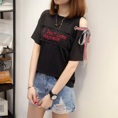 ขาย ซื้อ เสื้อยืดแขน ของผู้หญิงLouka สไตล์เกาหลี 616 สีดำ 616 สีดำ
