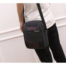 กระเป๋าสะพายข้าง ผ้าแคนวาส รุ่น 630 สีดำ เป็นต้นฉบับ