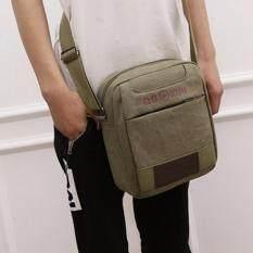 ราคา ราคาถูกที่สุด กระเป๋าสะพายข้าง ผ้าแคนวาส รุ่น 630 สีเขียว