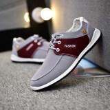 ราคา รองเท้าเกาหลีรองเท้าผู้ชายบวกกำมะหยี่ชายหนุ่ม 6395 สีเทาสีแดง ใหม่ ถูก