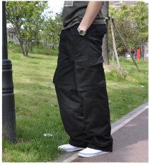 ขาย ซื้อ ผ้าฝ้ายฤดูร้อนส่วนบางชายกางเกงยางยืดผู้ชายกางเกงลำลอง 663 สีดำ ใน ฮ่องกง