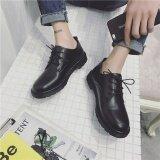 ซื้อ ญี่ปุ่นฮาราจูกุผู้ชายอังกฤษลำลองรองเท้าหนังรองเท้า สีดำ 666 Unbranded Generic เป็นต้นฉบับ