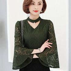 ขาย เสื้อผู้หญิงลายลูกไม้ สีเขียว 6810 สีเขียว 6810 Other