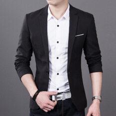 ราคา เสื้อสูทผู้ชาย สีดำ ทรงเข้ารูป สไตล์เกาหลี 6821 สีดำ 6821 สีดำ Other ฮ่องกง