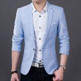 ซื้อ เสื้อสูทผู้ชาย สีดำ ทรงเข้ารูป สไตล์เกาหลี 6821 สีฟ้า 6821 สีฟ้า ออนไลน์ ฮ่องกง