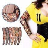 ซื้อ 6Pcs New Nylon Elastic Fake Temporary Tattoo Sleeve Designs Body Arm Stockings Tatoo For Cool Men Women แองโกลา