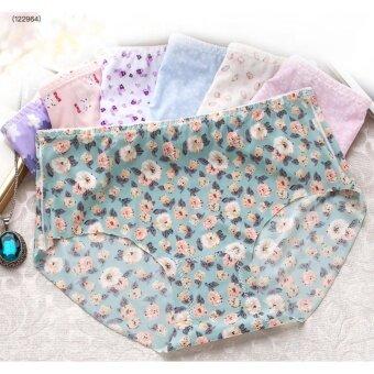 กางเกงใน ไร้ขอบ ลายกราฟฟิคน่ารัก แพ๊ค 5 ชิ้น (คละลาย)