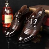 อังกฤษชายใหม่ชี้แบนลำลองรองเท้าฤดูใบไม้ผลิรองเท้า สีน้ำตาล 7 22 เป็นต้นฉบับ