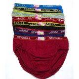 โปรโมชั่น กางเกงใน ผู้ชาย โชว์ขอบยาง แบบคละสี จำนวน 6 ตัว สินค้าคุณภาพ ราคาถูก ไซด์ Xl เอว 25 36 นิ้ว กรุงเทพมหานคร