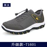 ขาย ป่าตาข่ายทนปีนเขาการท่องเที่ยวรองเท้าตาข่ายรองเท้า 71601 สีเทาเข้ม Unbranded Generic เป็นต้นฉบับ