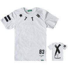 ส่วนลด 7Th Street เสื้อยืดแนวสตรีท รุ่น Cross สีขาว
