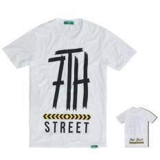 ราคา 7Th Street เสื้อยืดแขนสั้นแนวสตรีท รุ่น Slow Down สีขาว 7Th Street ออนไลน์
