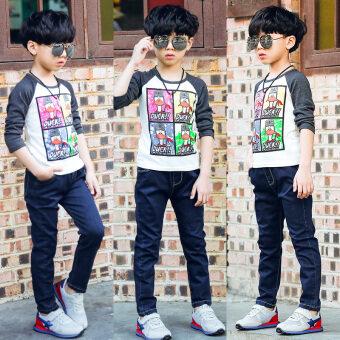 กางเกงเกาหลีกางเกงยีนส์ใหม่เด็กชายวรรคฤดูใบไม้ร่วง (สีฟ้ากางเกงยีนส์ 8042)