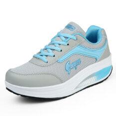 ซื้อ Gu Yu รองเท้าหนังหญิง ระบายอากาศ พื้นหนา แฟชั่น 8372 ตาข่ายสีฟ้าและสีเทา 8372 ตาข่ายสีฟ้าและสีเทา ออนไลน์ ถูก