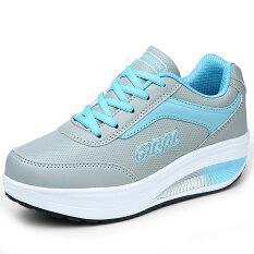 ราคา Gu Yu รองเท้าหนังหญิง ระบายอากาศ พื้นหนา แฟชั่น 8372 หนัง สีฟ้าและสีเทา 8372 หนัง สีฟ้าและสีเทา ออนไลน์