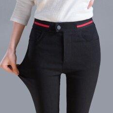 ราคา สีดำหญิงไซส์พิเศษไซส์ใหญ่พิเศษฟุตดินสอกางเกง สีดำ 851 Unbranded Generic ใหม่