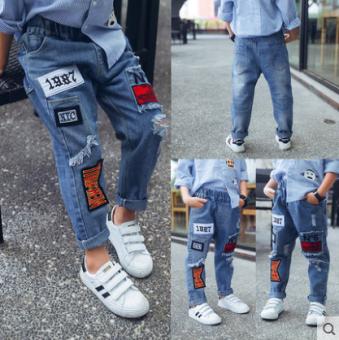 Review กางเกงขายาวเกาหลีกางเกงขายาวคาวบอยฤดูใบไม้ผลิและฤดูใบไม้ร่วงบางส่วน (กางเกงยีนส์สีฟ้า 856)