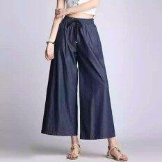 ส่วนลด สินค้า 8813·กางเกงผ้ายีน เอวยางยืด ทรง5ส่วนผ้าไม่หนา นิมใส่สบาย