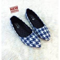 ขาย 8Am รองเท้าส้นแบนหัวแหลม รุ่น 2A8026 สีฟ้า ราคาถูกที่สุด