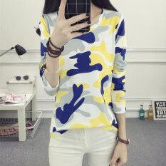 ราคา เสื้อยืดผู้หญิง Yonghengxuanyan ทรงหลวมๆ ลายพราง 995 สีเหลืองลายพราง 995 สีเหลืองลายพราง ราคาถูกที่สุด