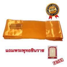 ซื้อ ผ้าไตร ผ้าไตรครอง ไตรเต็ม ครบชุด ไตรจีวร เนื้อผ้าโทเรคุณภาพดี เกรดA สีพระราชนิยม 1 80 เมตร Tambon Online ถูก