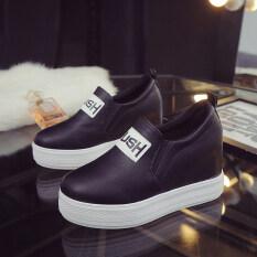 ราคา รองเท้าส้นตึกผู้หญิง Difengxuan สไตล์เกาหลี สีดำ A 32 ย่อหน้าเดียว สีดำ A 32 ย่อหน้าเดียว ออนไลน์