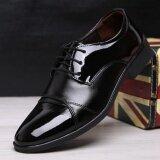 ขาย เกาหลีรองเท้าผู้ชายสีดำหนังผู้ชายรองเท้าแต่งงานรองเท้าผู้ชาย นานาชาติ ใน สมุทรปราการ