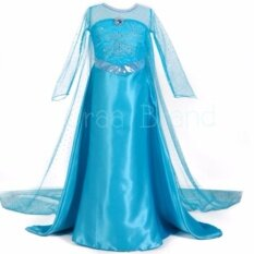 ราคา ราคาถูกที่สุด ชุดเจ้าหญิง ชุดราตรีเด็ก ชุดเด็ก เดรสเด็กผู้หญิง รุ่น A Skirt Princess Dress สีฟ้า